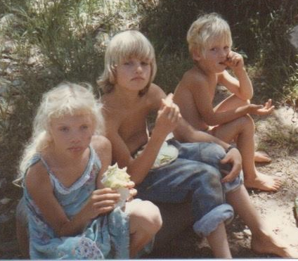 Me and my borthers in the 1980s