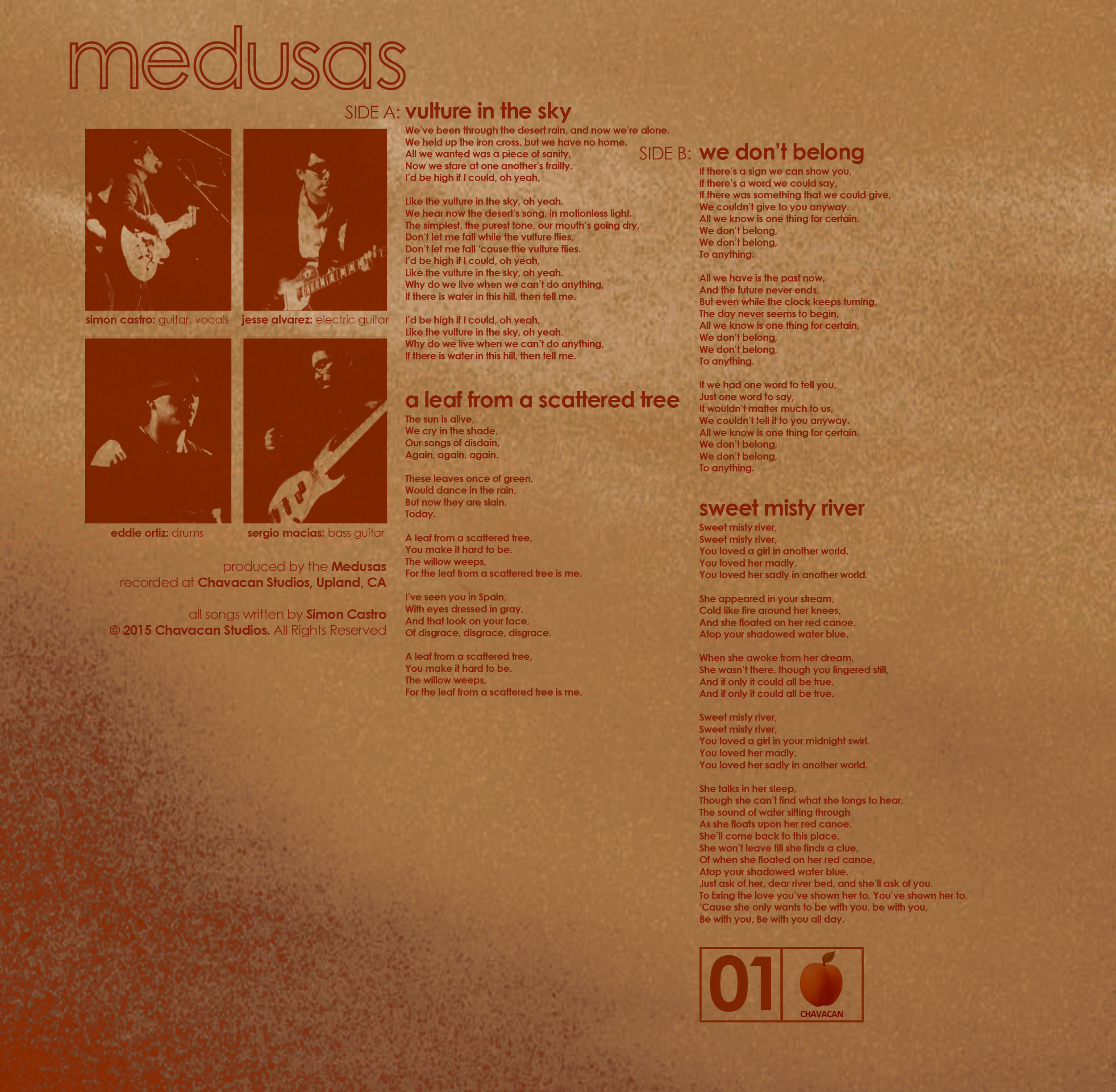 The Medusas - Vulture In The Sky EP - Clear Heavyweight 10