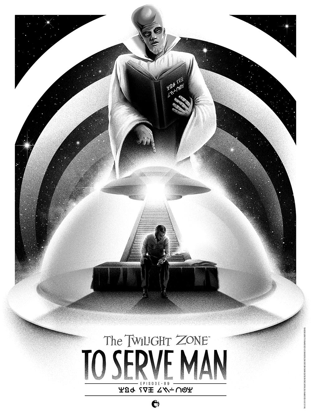 The twilight zone to serve man 18x24 regular jpg