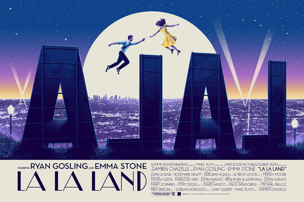 "City of Sta      rs / LA LA LAND   8   color Screenprint / 36""x24"" / 60$"