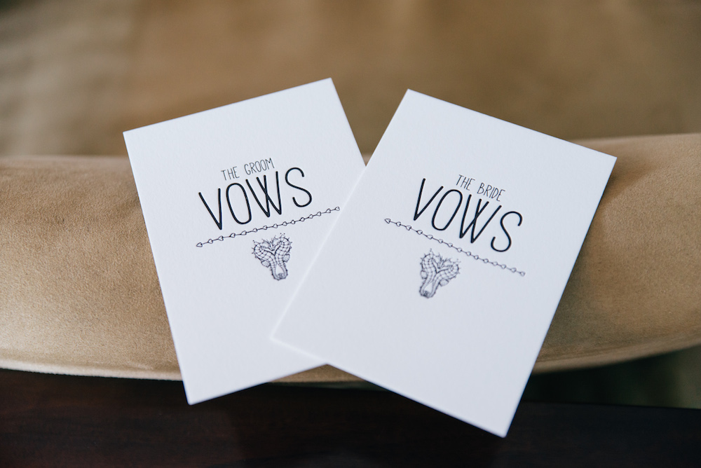 vow cards or repeat after me modern love ceremonies