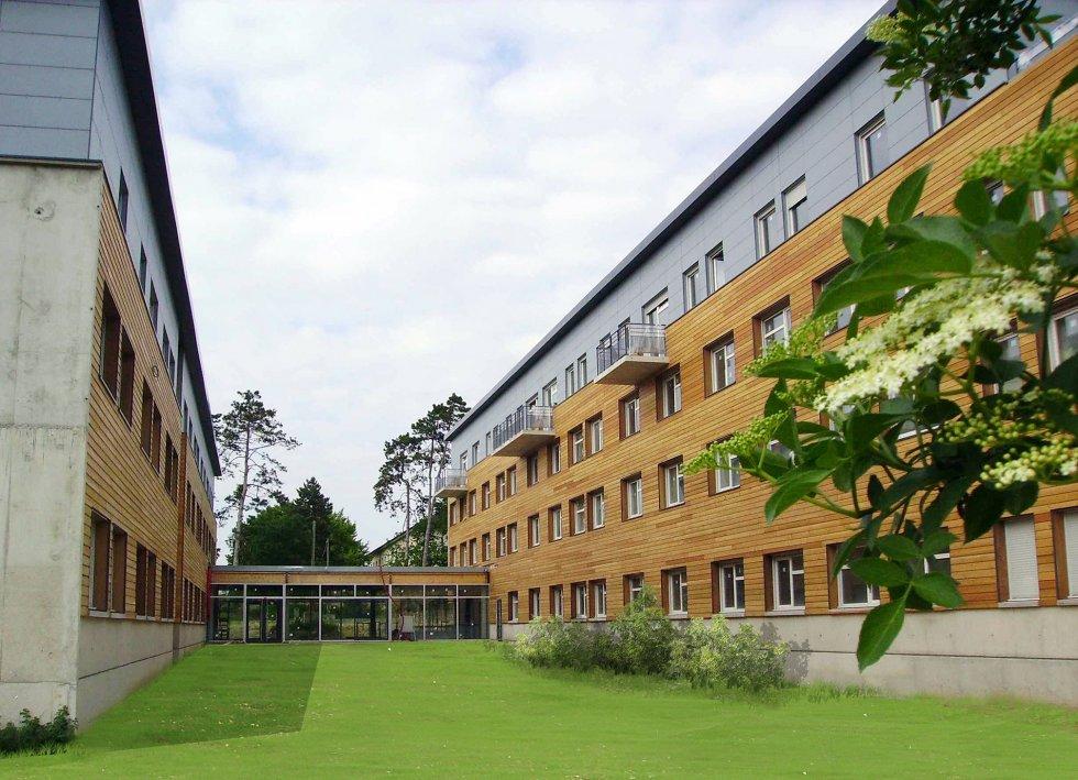 Compiègne -Résidence étudiants -Crous   Jardin intérieur   Crédit : Michel Denancé - Roger Elbaz