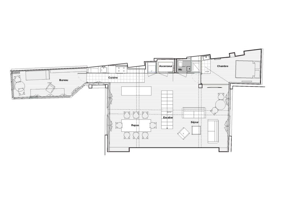 Plan du 4e sous les toits