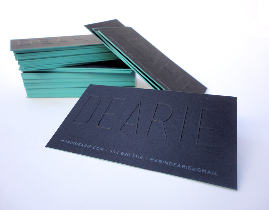PERSONAL BUSINESS CARDS — MARIN DEARIE