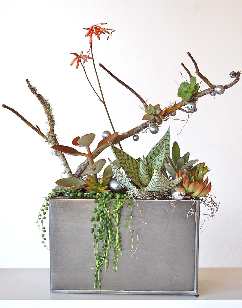 Metal Rectangular Planter