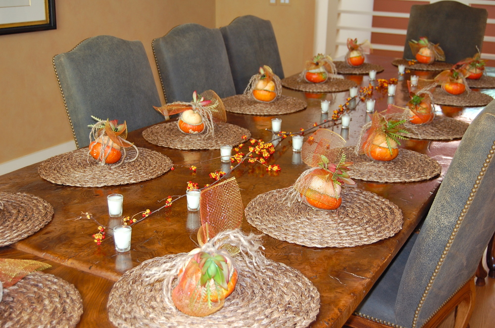 Party Favors on Dining Table for Fundraiser Event