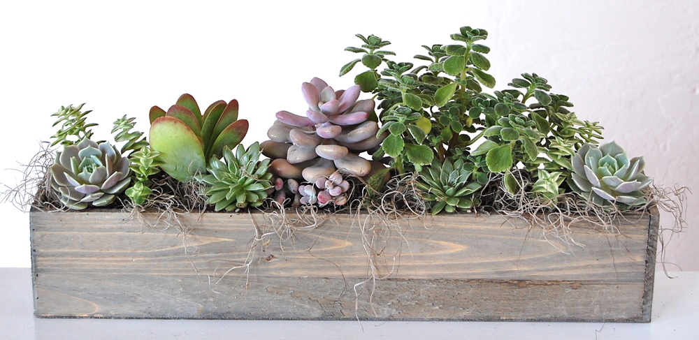 "20"" Wooden Rectangular Planter"