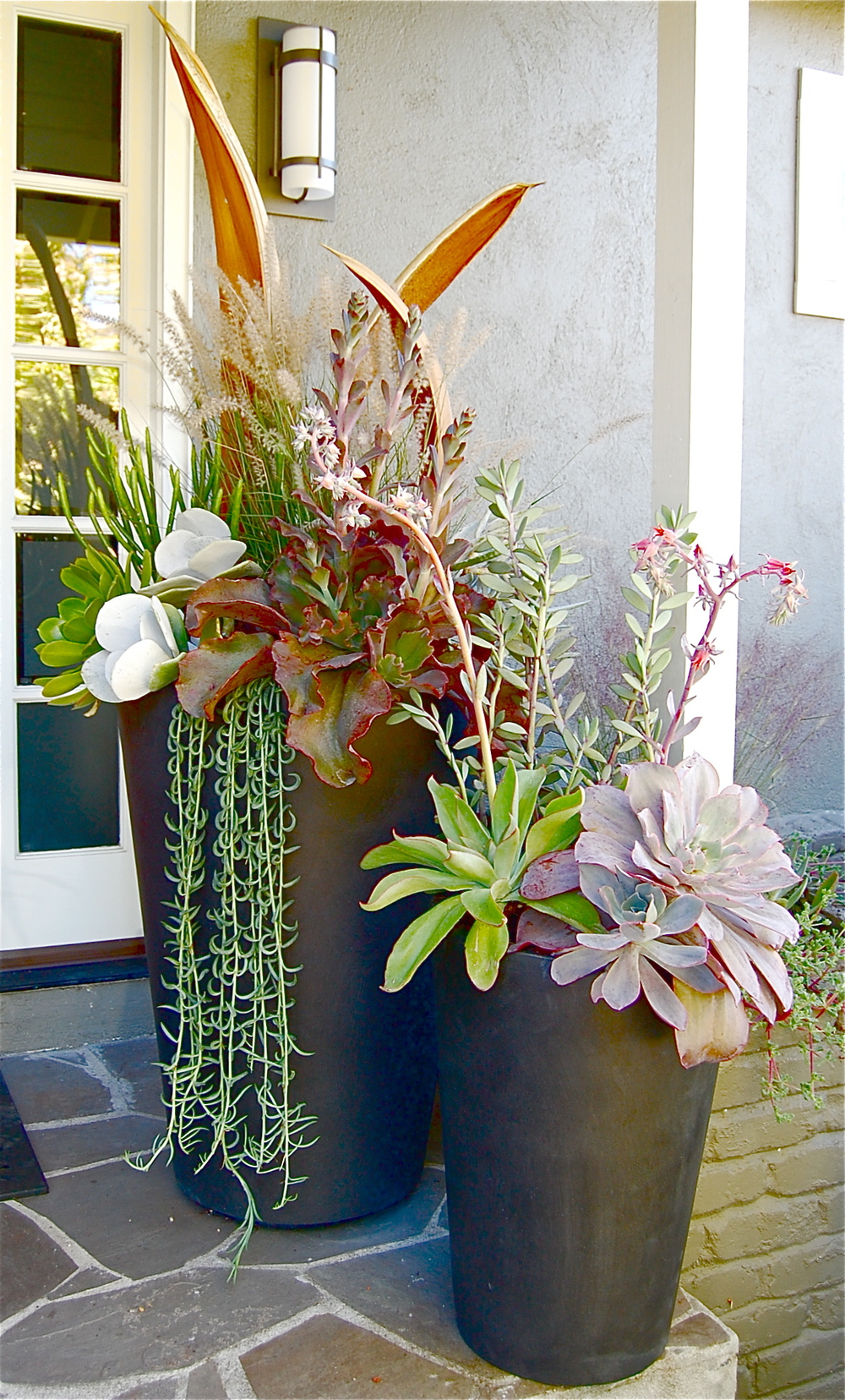 "OUTDOOR PLANTERS (OTHER STYLES AVAILABLE)   30""w x74""h – $725.  /  18""w x 45""h  -  $325.    *Now offering custom outdoor planters!"