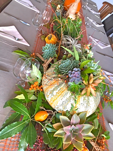 THANKSGIVING CENTERPIECE FOR TABLE OF 18  IN NAPA, CA