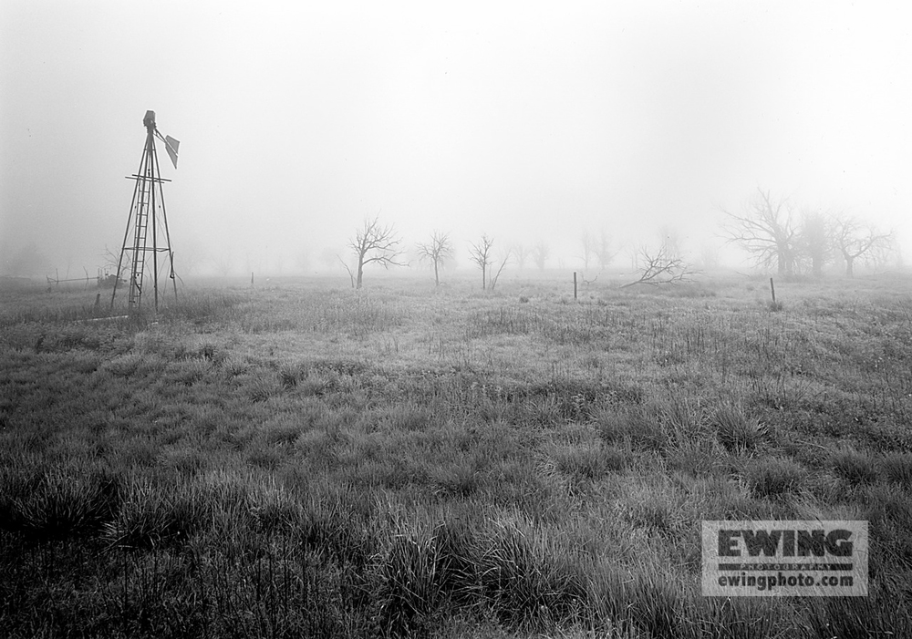 Fog, Abandoned Ranch Pawnee Grasslands, Colorado