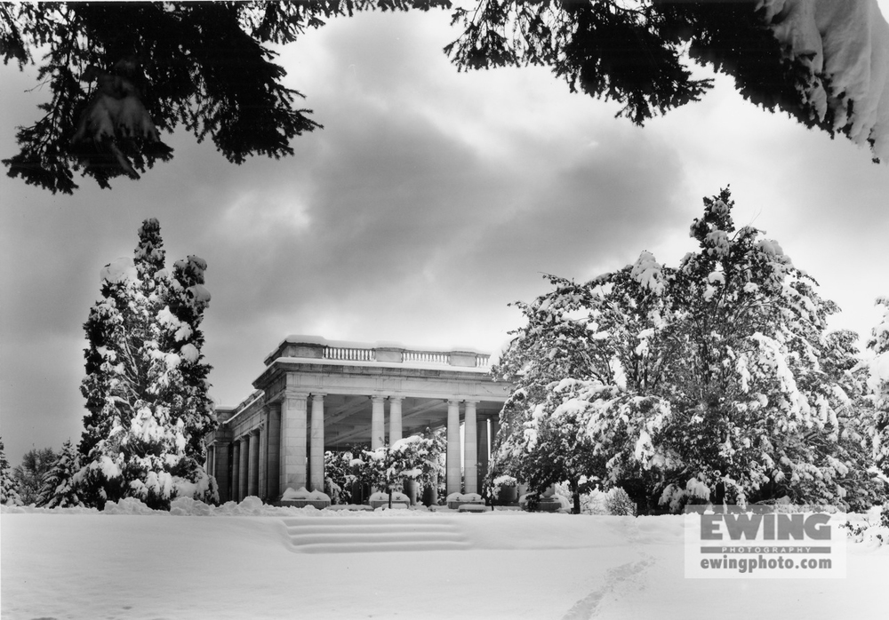 Pavilion Surrounded In Snow In Cheesman Park Denver, Colorado