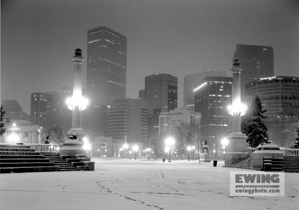 Civic Center Park Snowcovered  Denver, Colorado