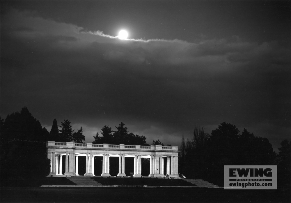 Moon Over The Pavilion, Cheesman Park Denver, Colorado