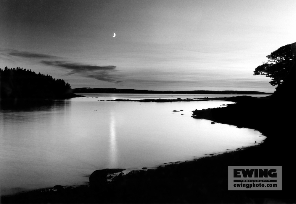 Moon over Sorrento Harbor Sorrento, Maine
