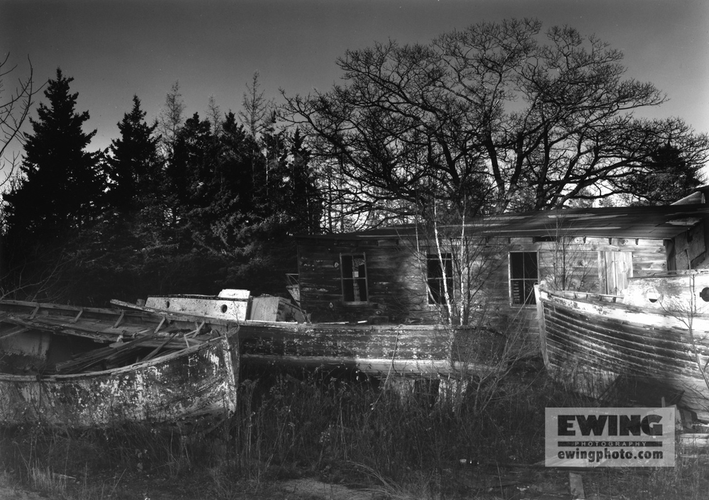 Andrew's Boat yard, November, Sorrento, Maine