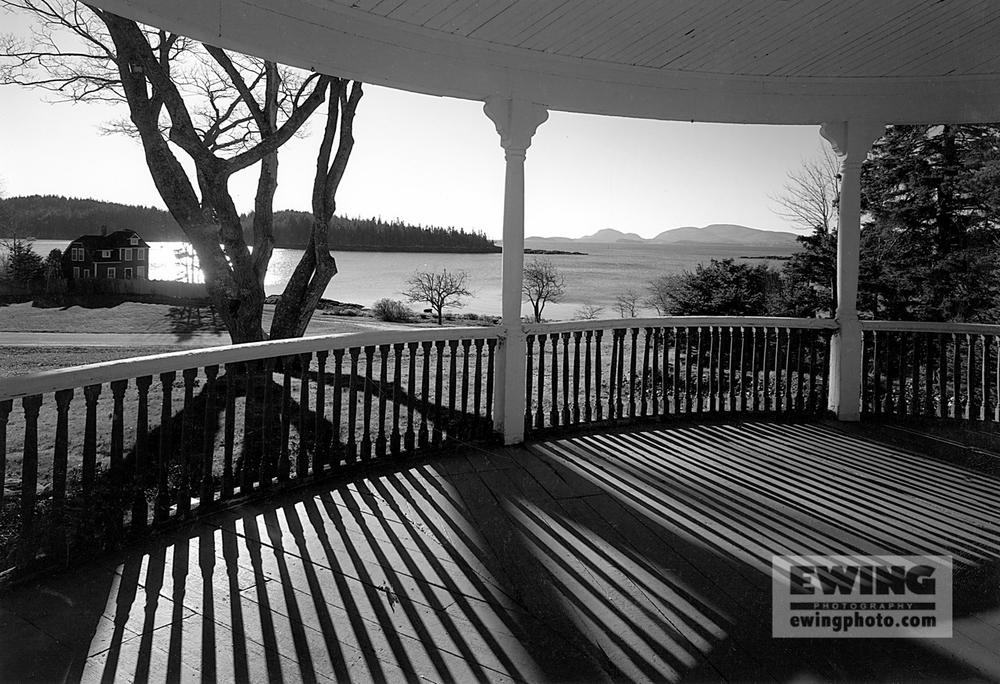 Porch Sorrento, Maine