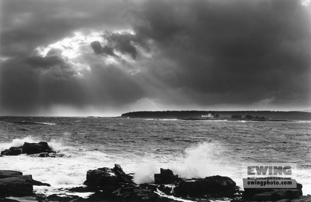 Mark Island Lighthouse Winter Harbor, Maine 1998