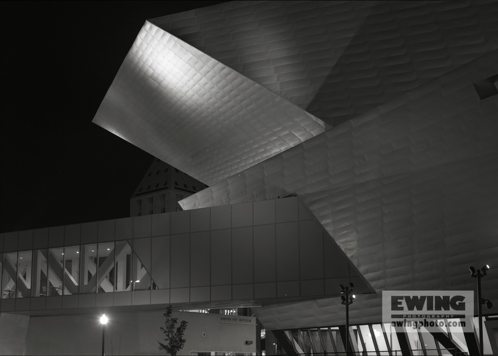 Night, Denver Art Museum DAM Denver Colorado #153207-1