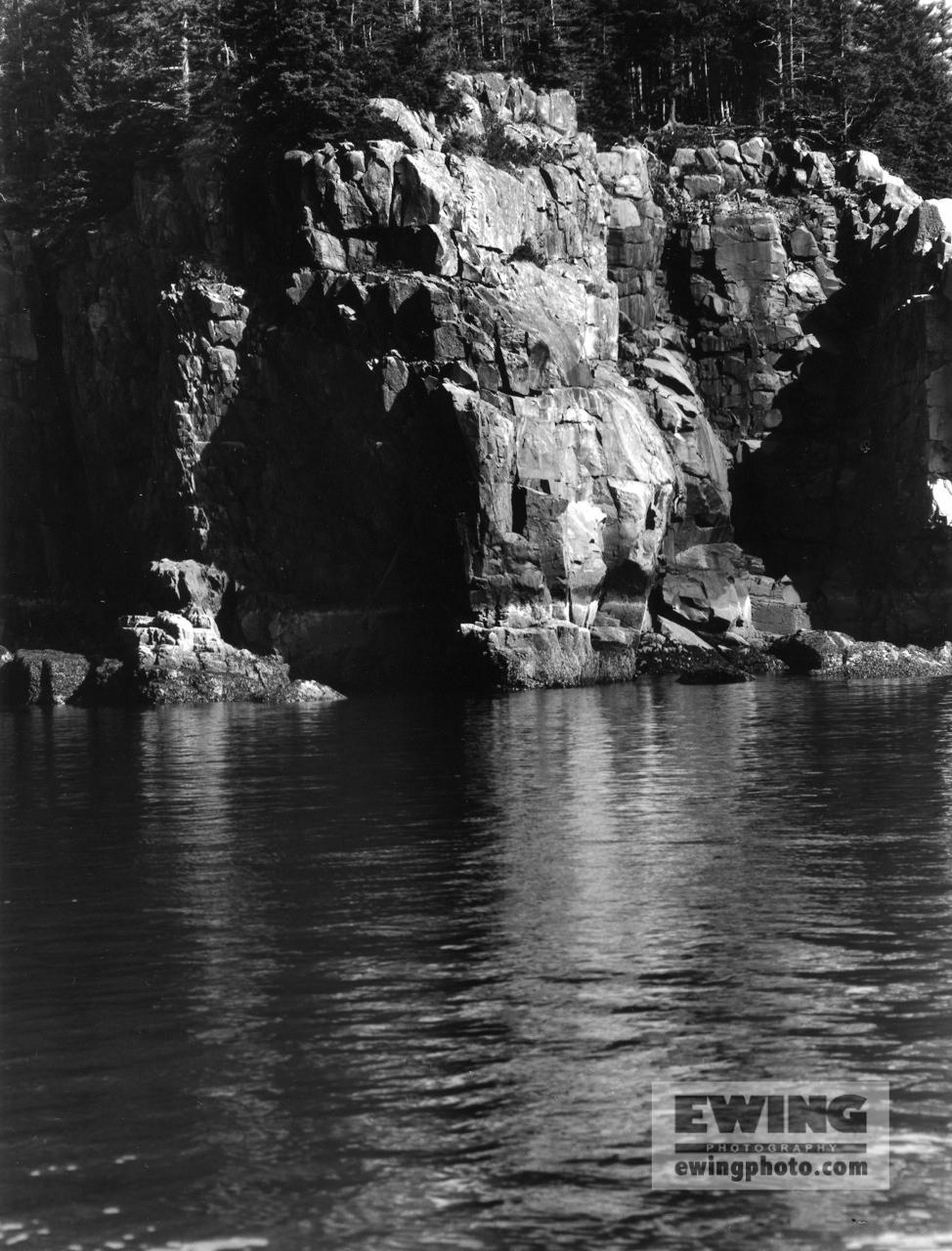 Cliffs of Ironbound island , Maine