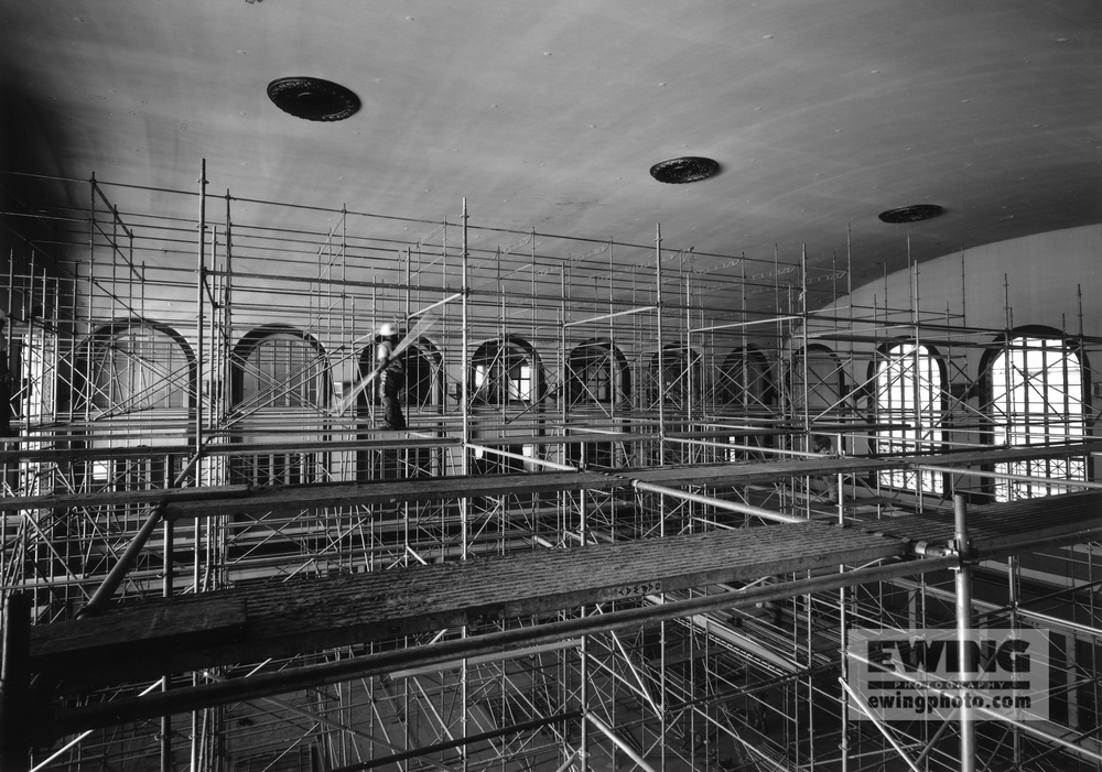 Union Station Grand Hall Scaffold and Worker, Denver, CO