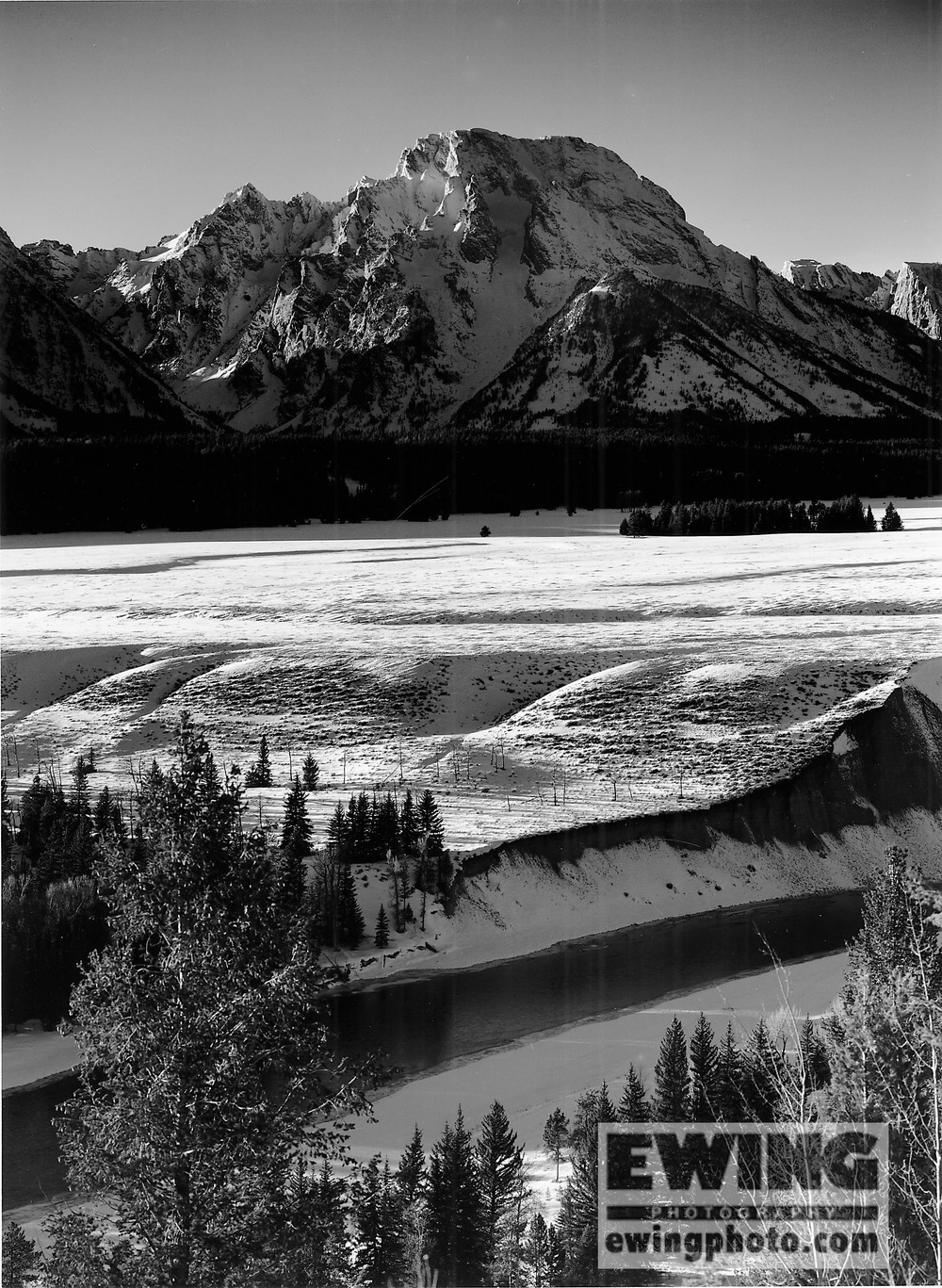 Evening, Mt. Moran Teton National Park, Wyoming