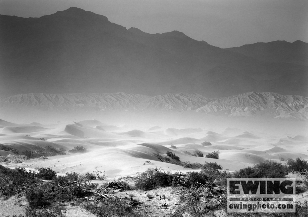 Mosquito Flat Sand Dunes Sand Storm Death Valley, California