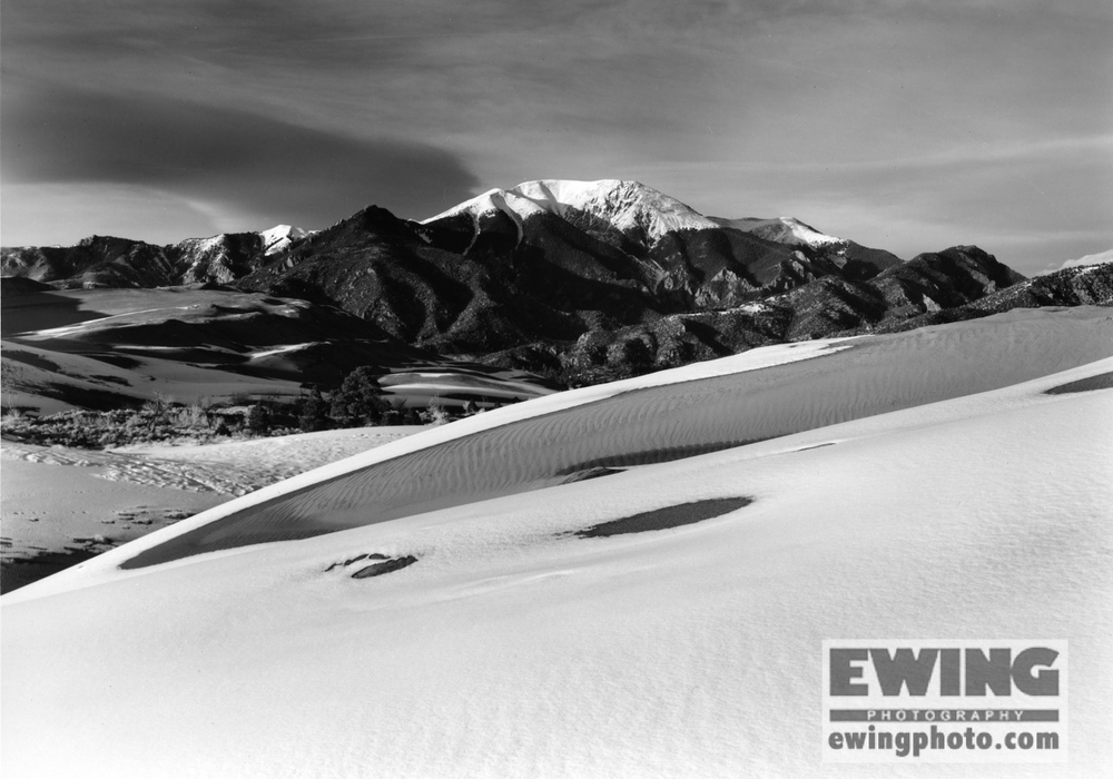 Mount Herard Great Sand Dunes National Park After Snow