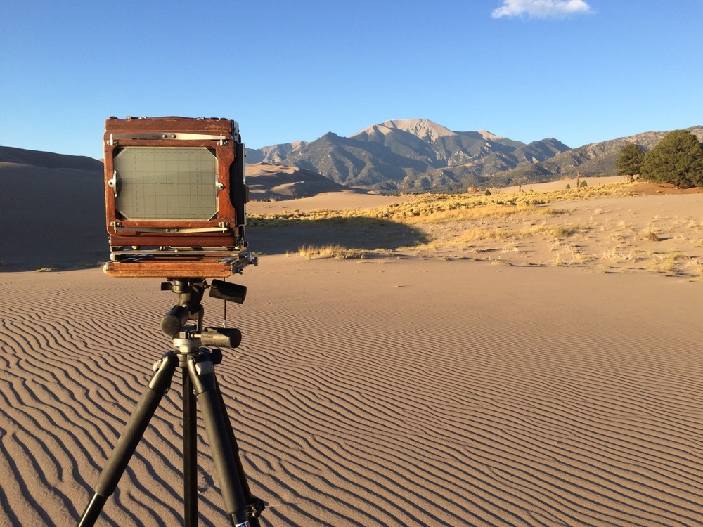 Ewing's Deardorff Camera at Great Sand Dunes National Park