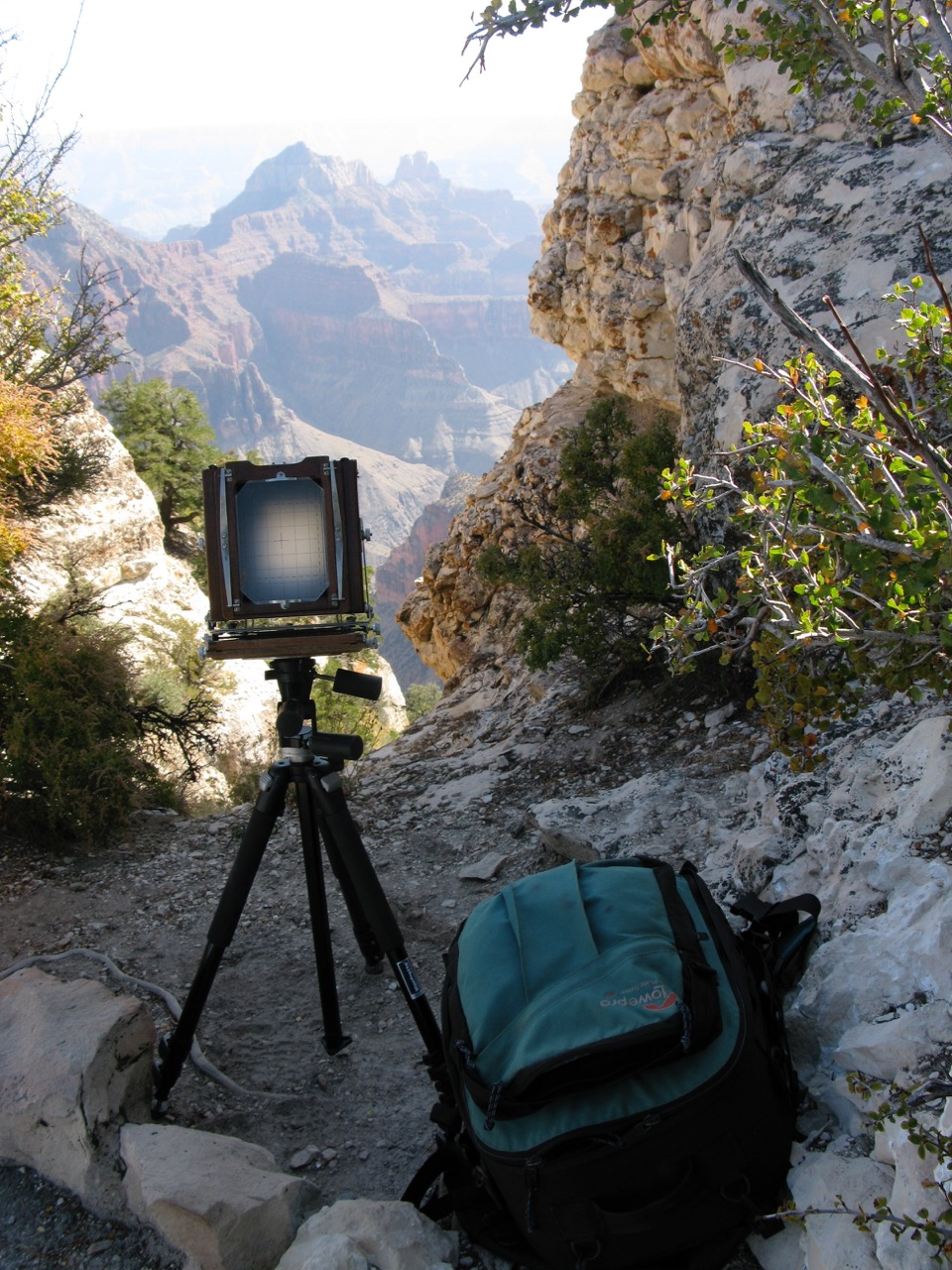 The Deardorff Camera at the edge of Black Canyon, Colorado.