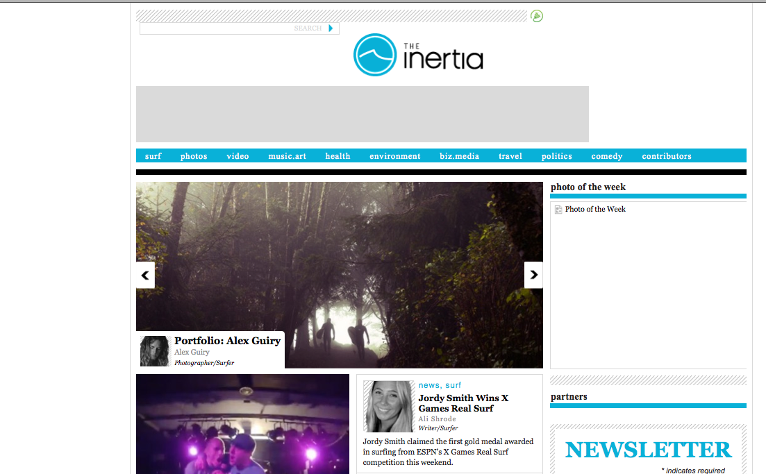 Check out my portfolio and brand new bio on the front page of  The Inertia website.