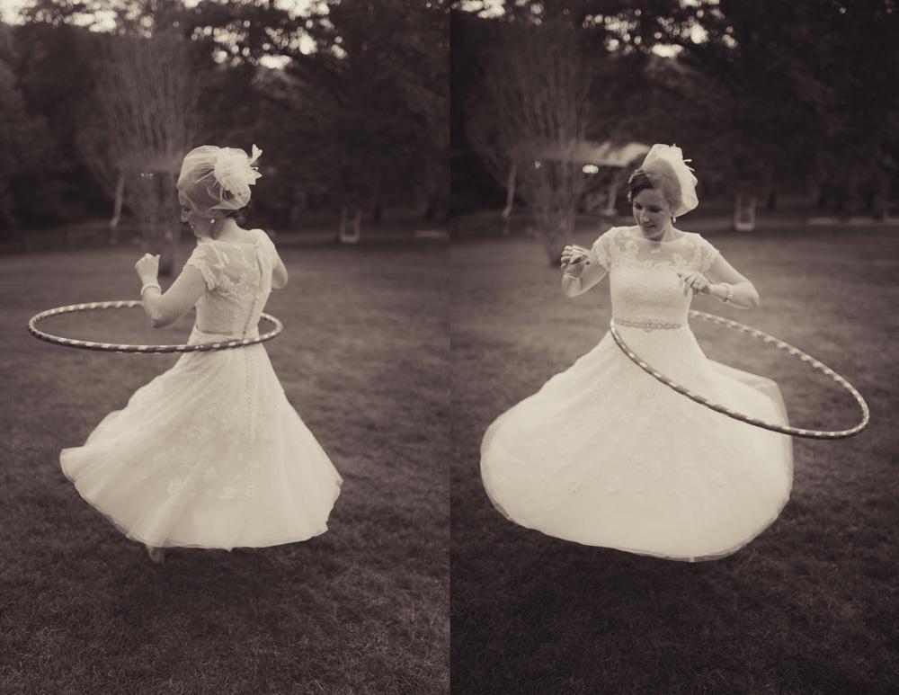 bride hula hoop