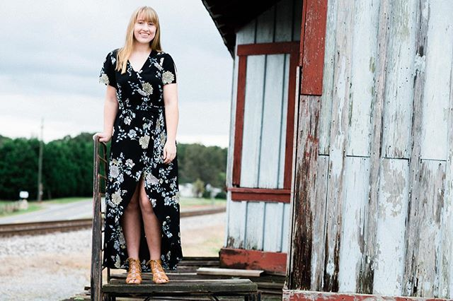 Delayney's #highschoolsenior #photoshoot happened yesterday. She helped fulfill a long lasting wish of mine to shoot at this old #railwaystation #seniorpictures #seniorphotos #seniorportraits #seniorpics #senioryear