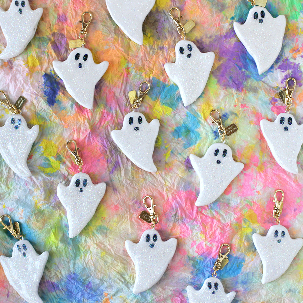 Iridescent glitter coated ghosts!
