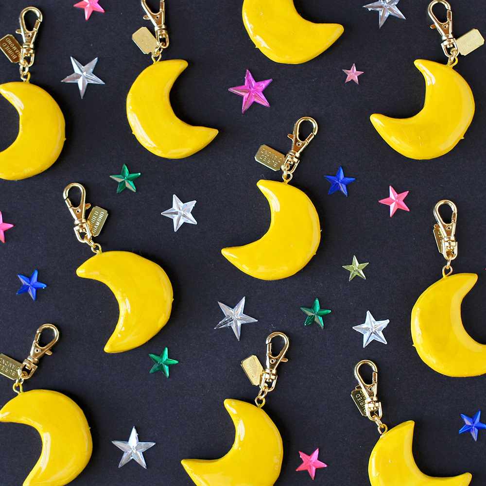 Simple shiny Crescent Moons.
