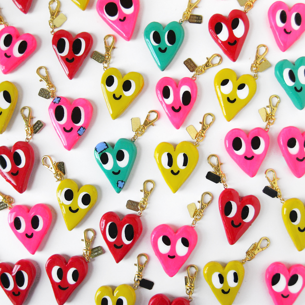 Each charm has a unique face - and they are double sided! So you get 2 faces on each charm. A few special charms have little patches on them, those are my personal favorites.