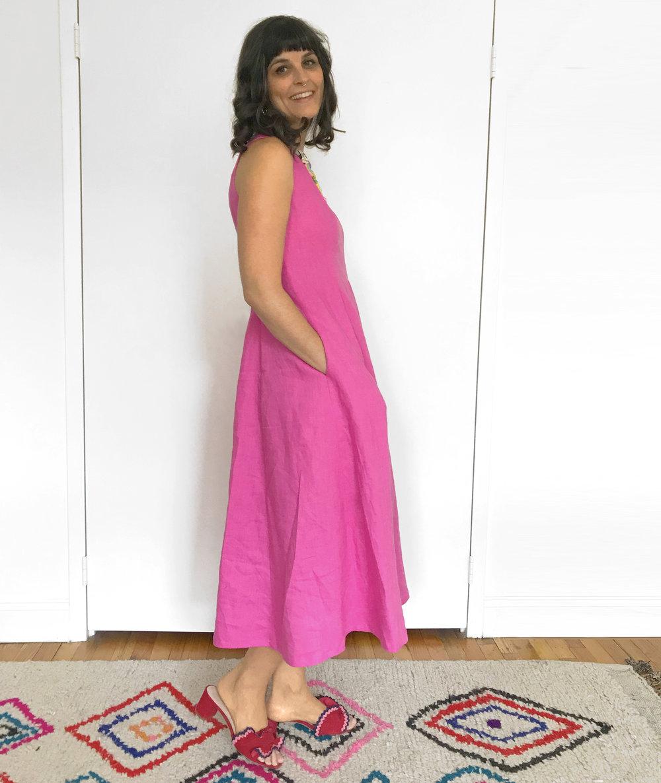 3 side view pink linen dress.jpg