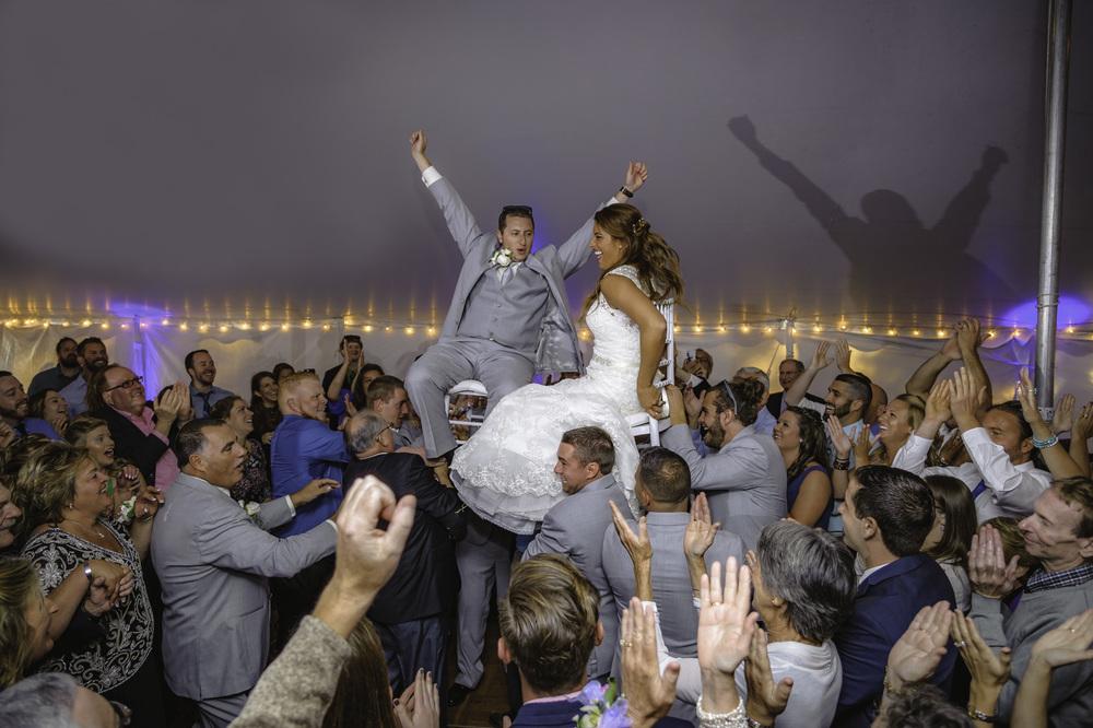 Bride and groom Hora, Ogunquit, Maine