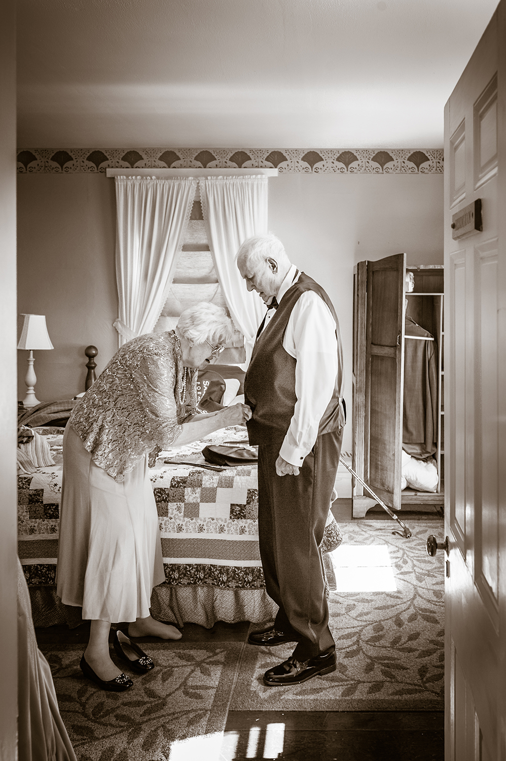 Bride's grandparents at The Dowds' Country Inn & Event Center in Lyme, NH