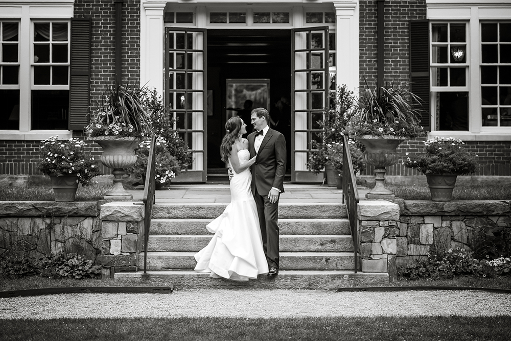 Bride and Groom at The Bradley Estate in Canton, MA
