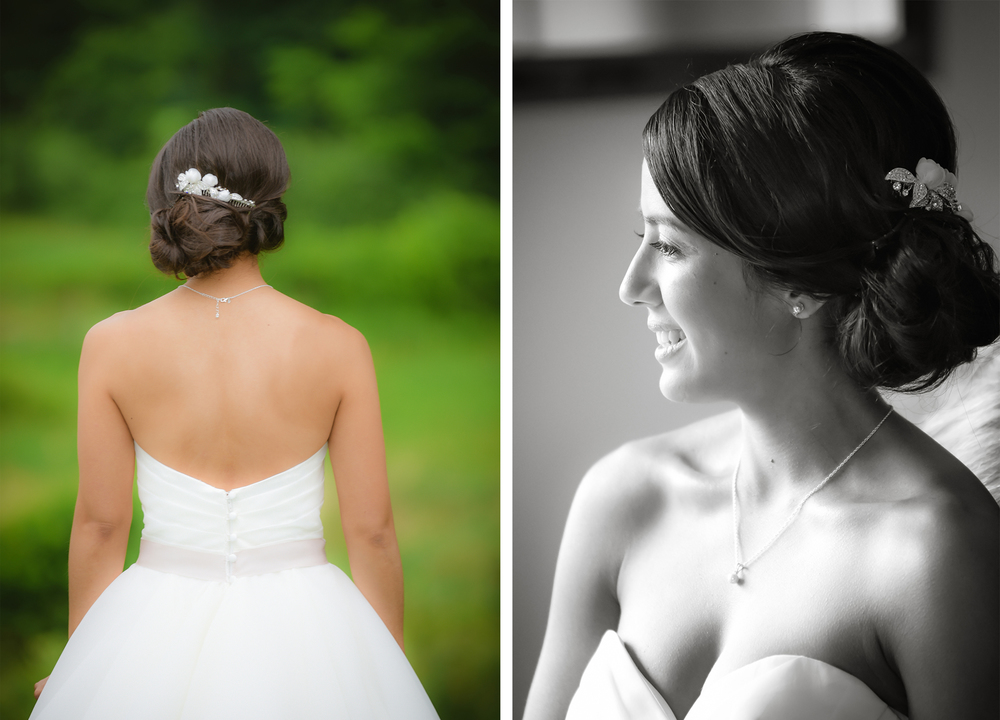 Bride portrait at Alysons Orchard in Walople, NH