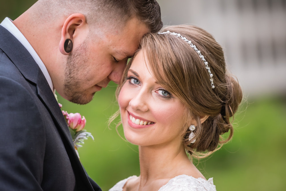 Beautiful bride in Tilton, NH wedding, photographed by Mike Sears Photography