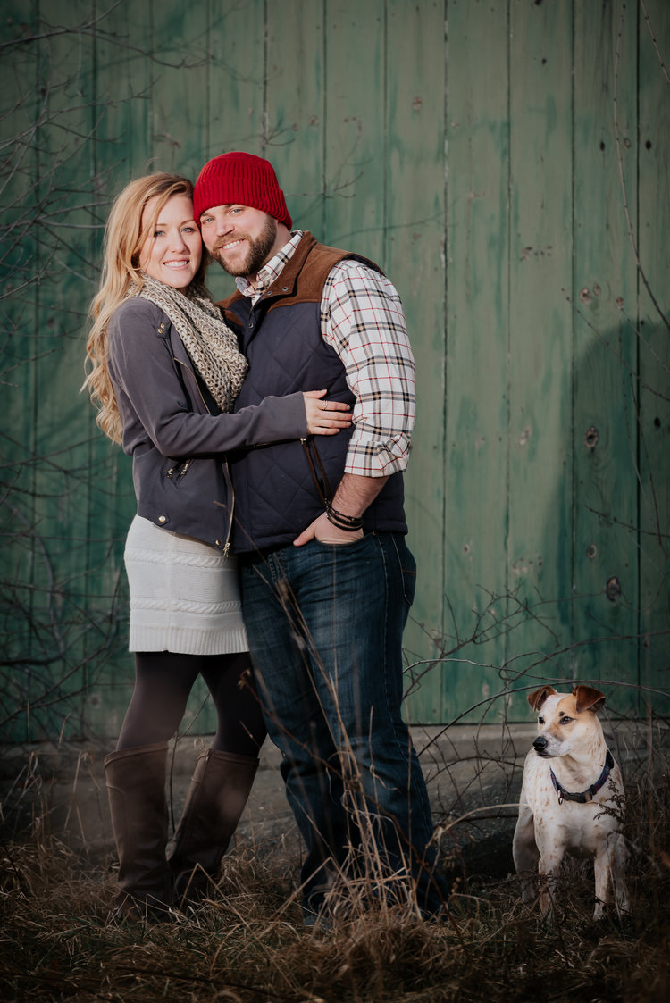 New Hampshire Engagement Dog Photos | Mike Sears Photography