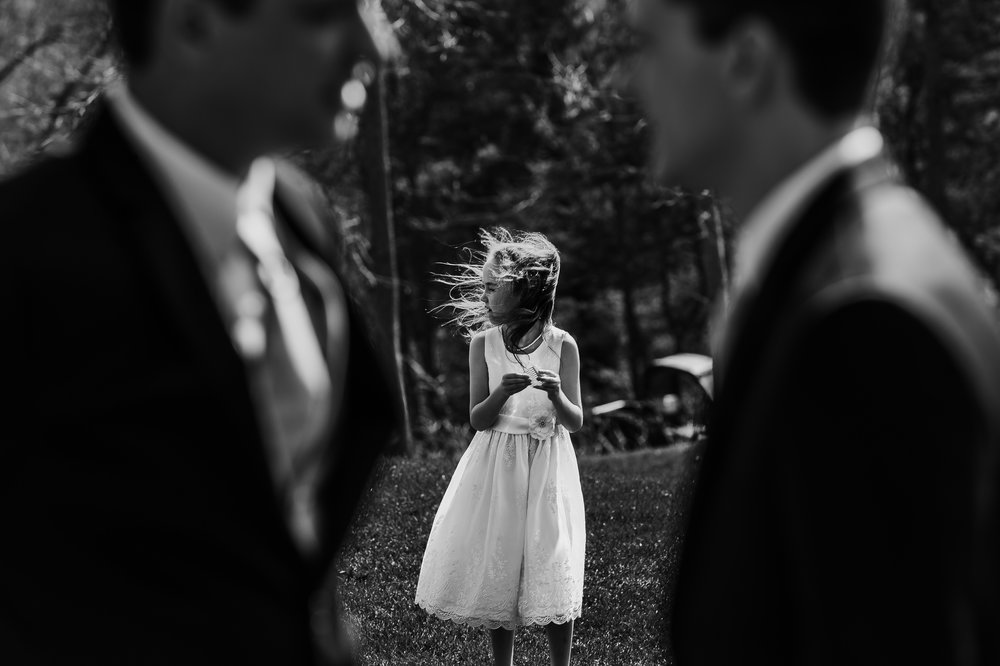 New Hampshire Wedding Flower Girl | Mike Sears Photography