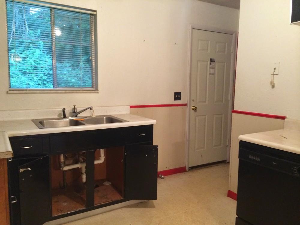 Grandview Kitchen and Back Door Before