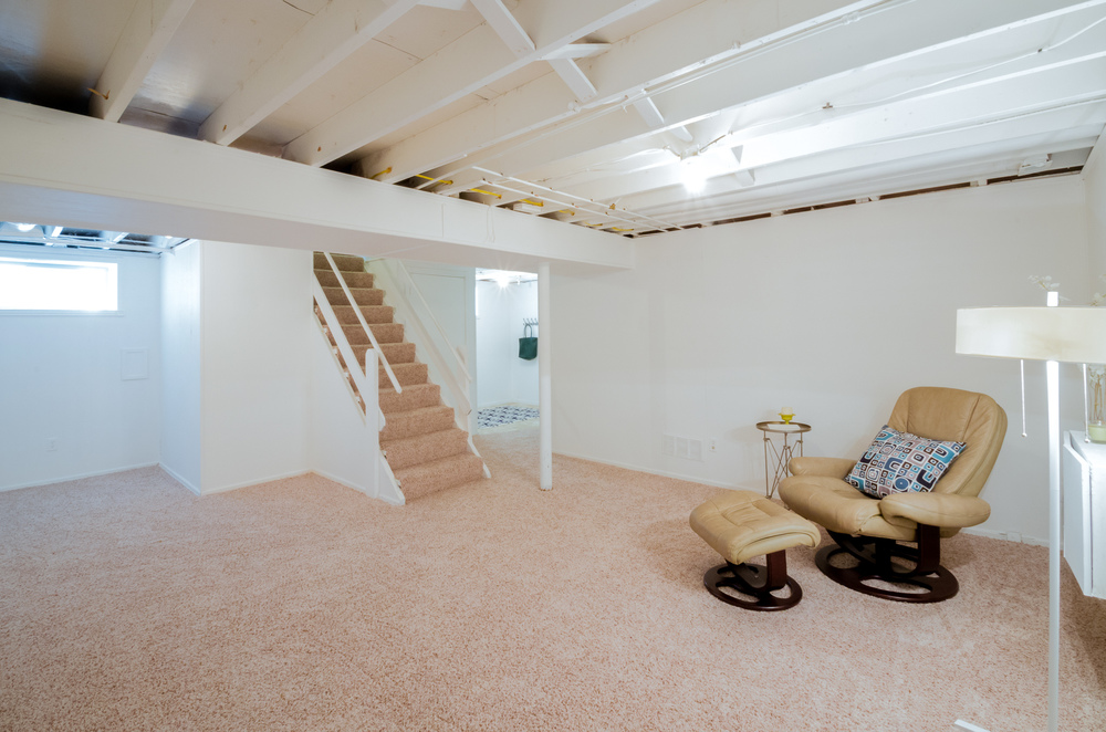 Delightful Painting Basement Ceiling Joists Mechanicals NonWakeboarding. SOLD  Grandview Before After Photos Dwelling Studio