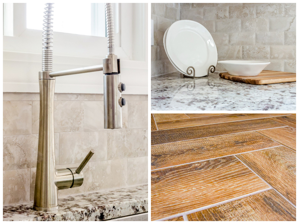 Tile, herringbone, backsplash, kitchen