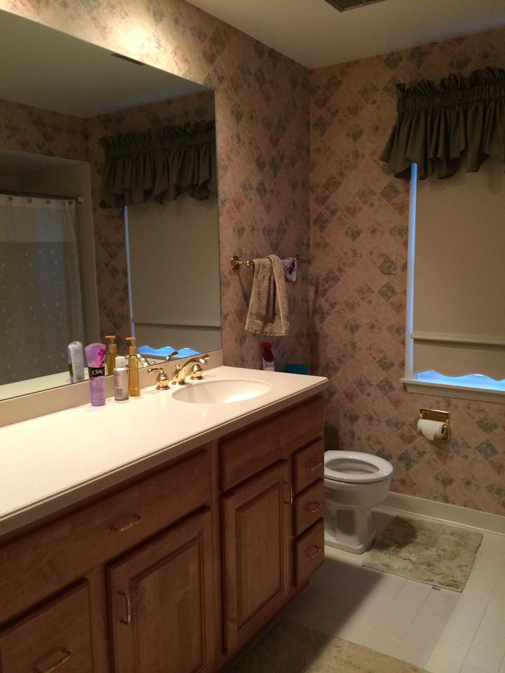 Vanity wall in master bath