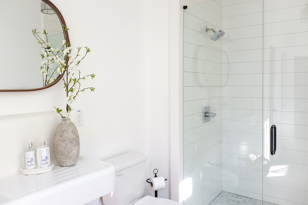 Have you been talking about flipping houses for 18 gazillion years. How to Install Shiplap In A Shower  and be the coolest people on