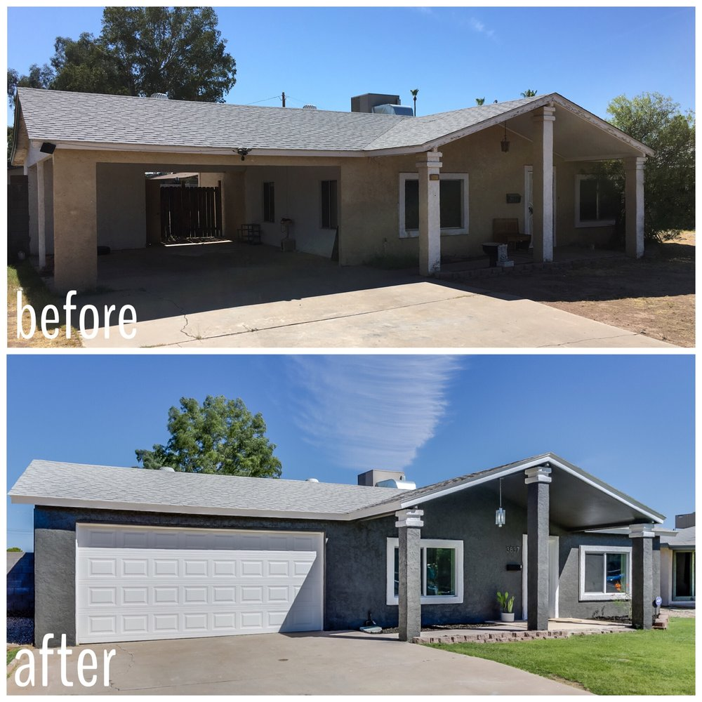 before and after ranch house flip in phoenix