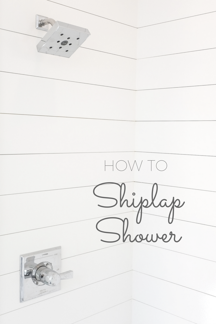 How To Install a Ship Lap Shower